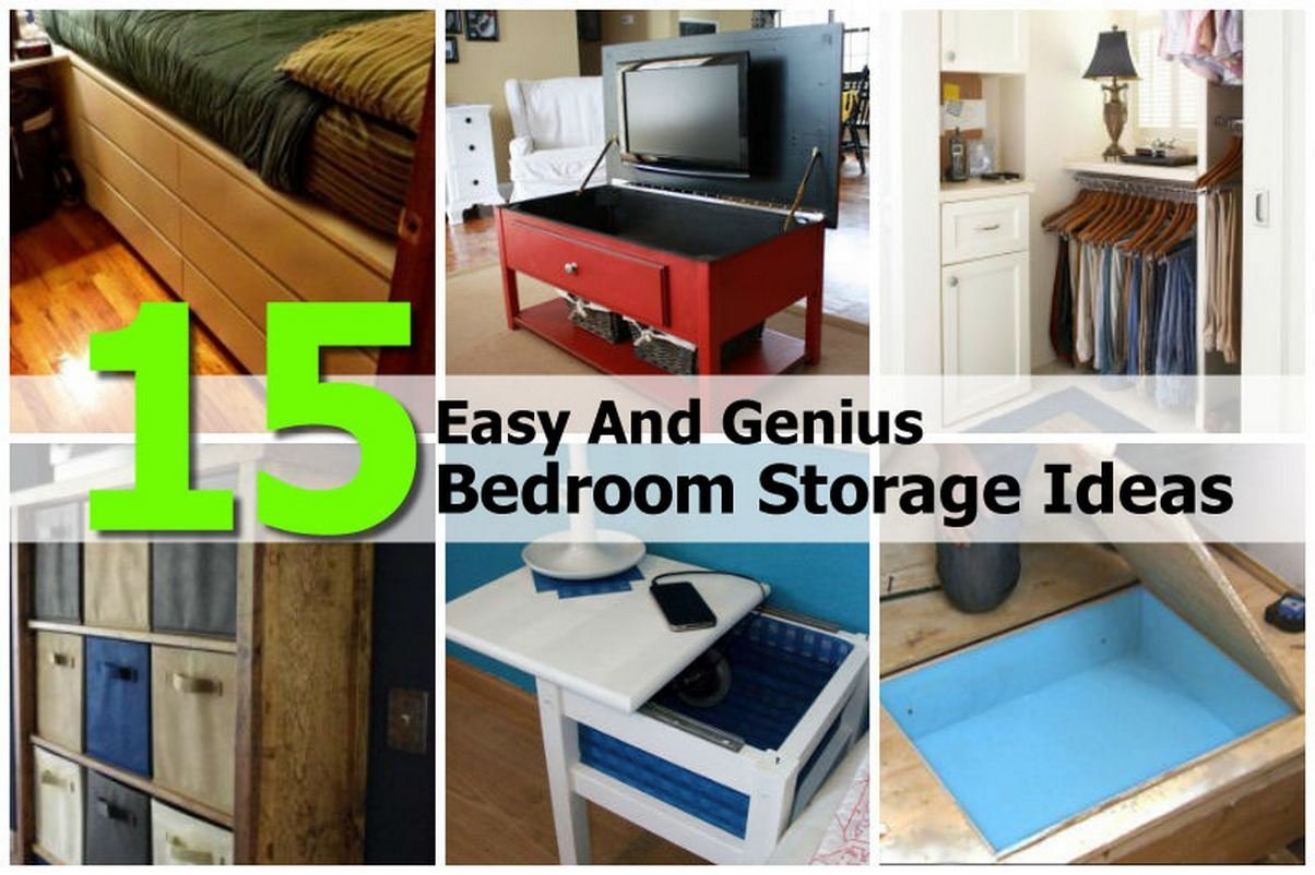 Best 15 Easy And Genius Bedroom Storage Ideas With Pictures