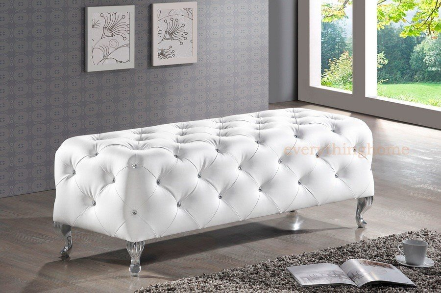 Best Modern Black White Faux Leather Crystal Tufted Bedroom With Pictures