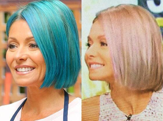 Free Kelly Ripa Ditches Blue Hair For Opal Locks After Just 1 Wallpaper