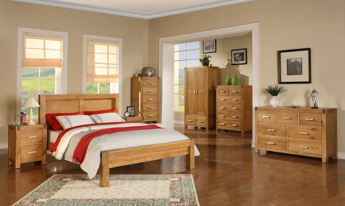 Best Solid Oak Bedroom Sets Honey Furniture Solid Wood With Pictures
