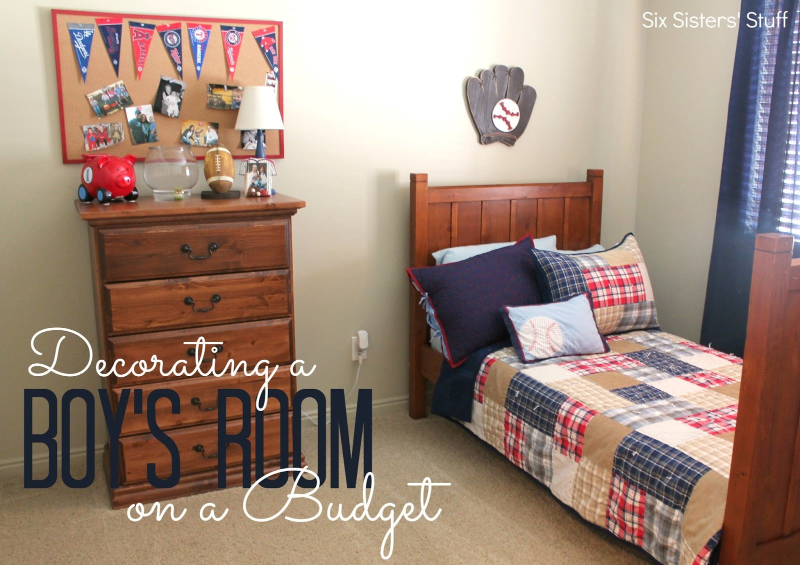 Best Decorating A Boy S Bedroom On A Budget Six Sisters Stuff With Pictures