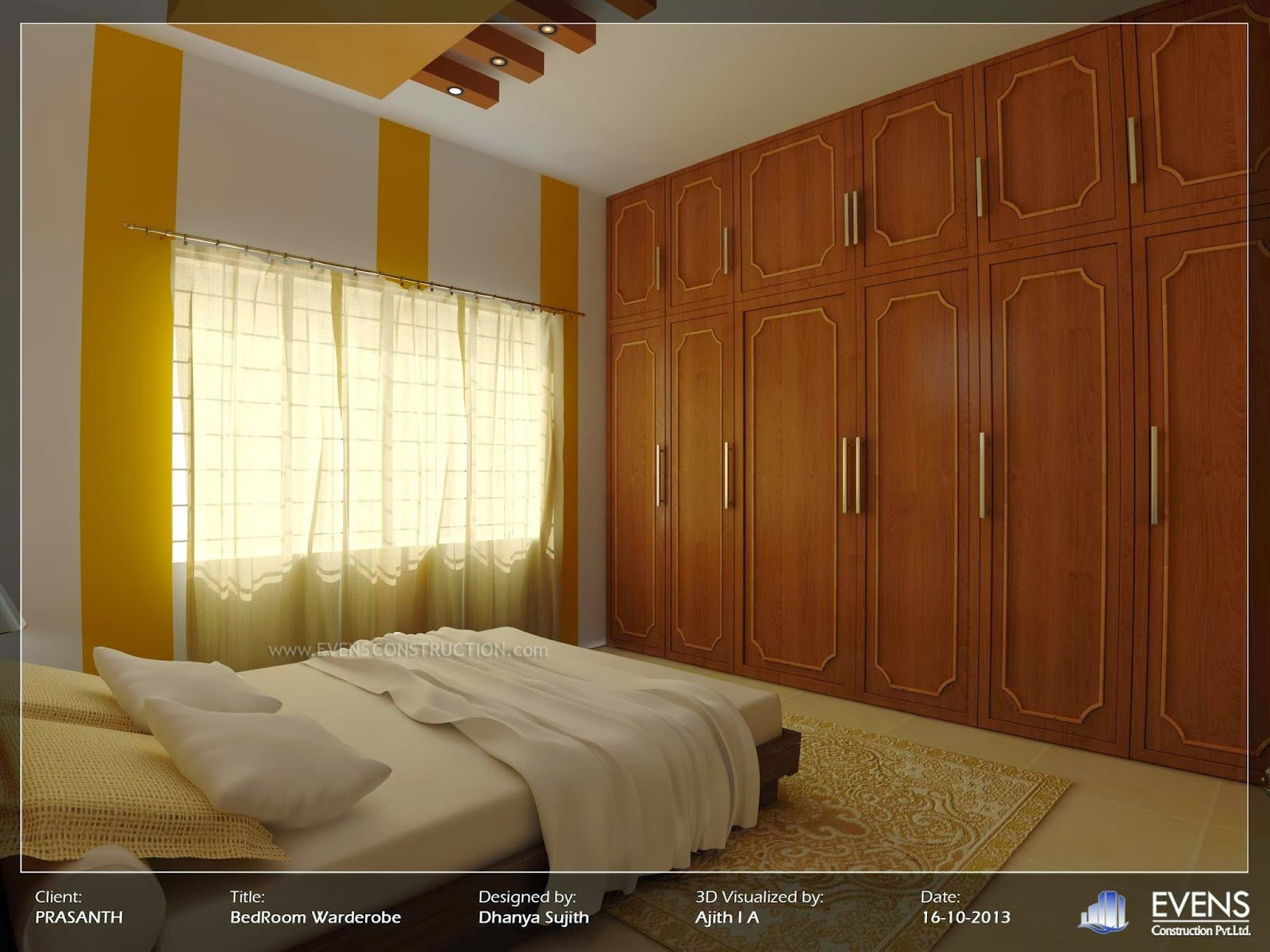 Best Evens Construction Pvt Ltd Kerala Style Bedroom Wardrobe With Pictures