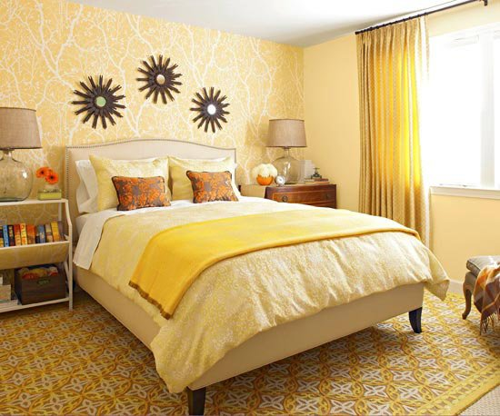 Best 2011 Bedroom Decorating Ideas With Yellow Color With Pictures