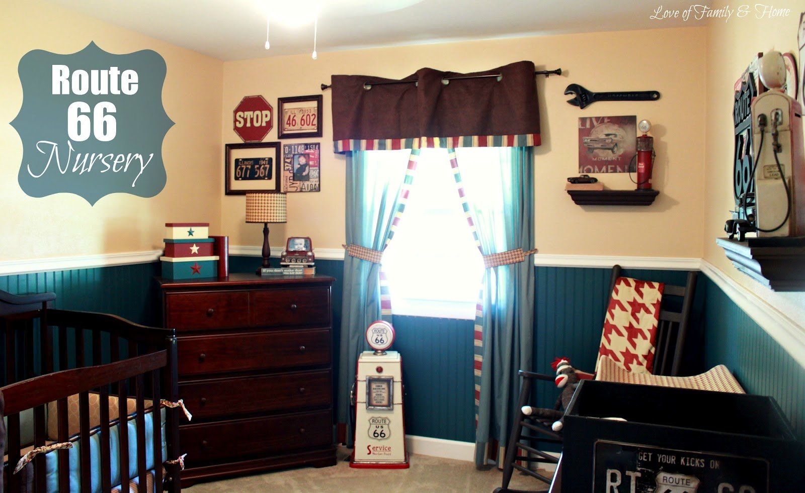 Best Route 66 Nursery Gallery Wall Love Of Family Home With Pictures