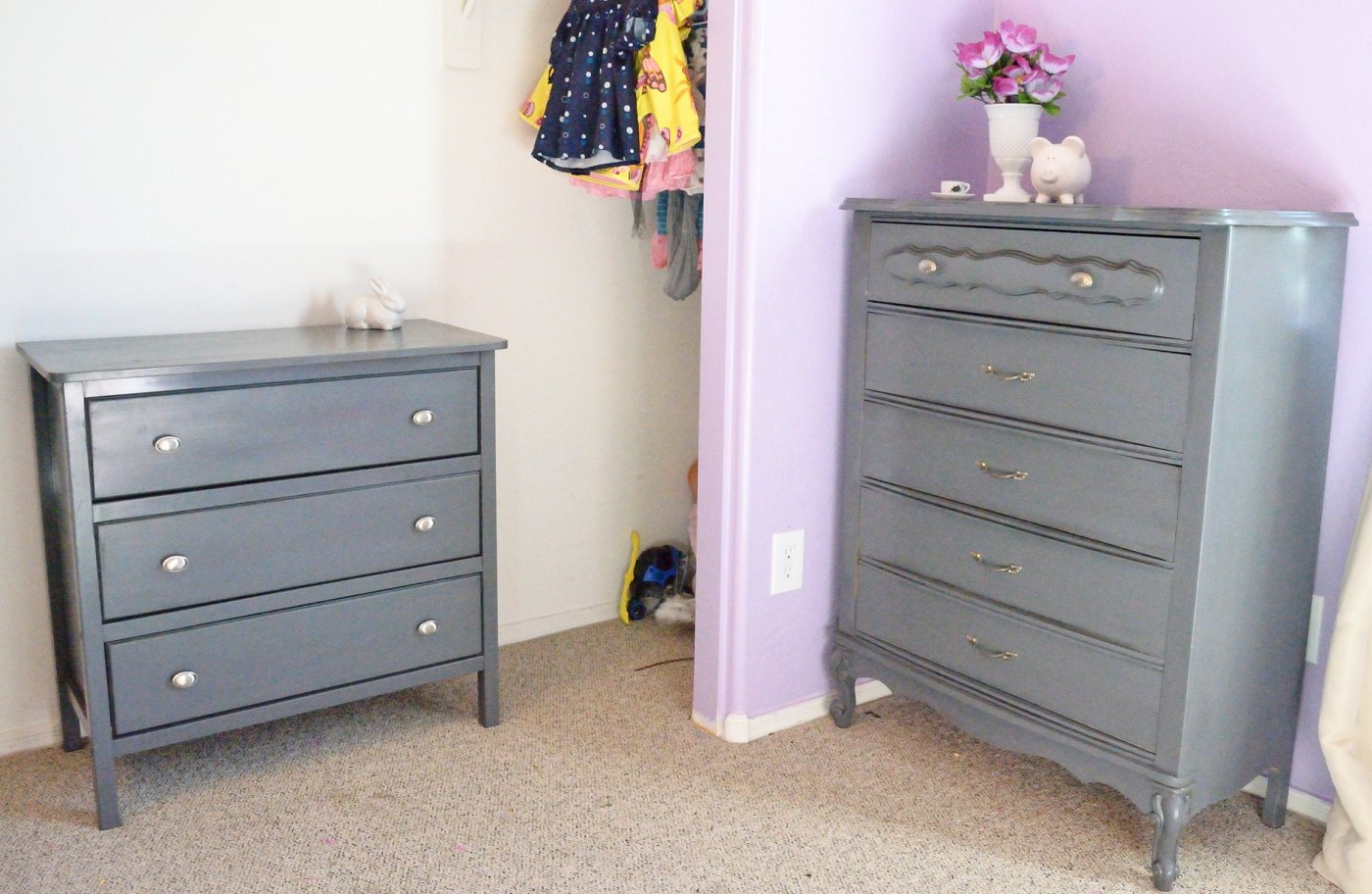 Best Sew Over It Pretty In Grey Dresser Makeovers With Pictures