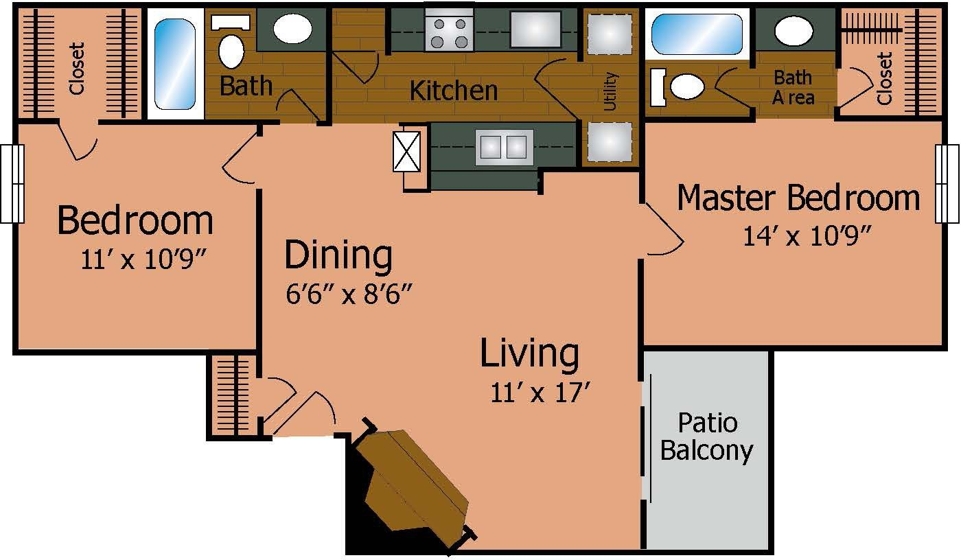 Best One Bedroom Apartments Denton Tx Country Park Texas With Pictures