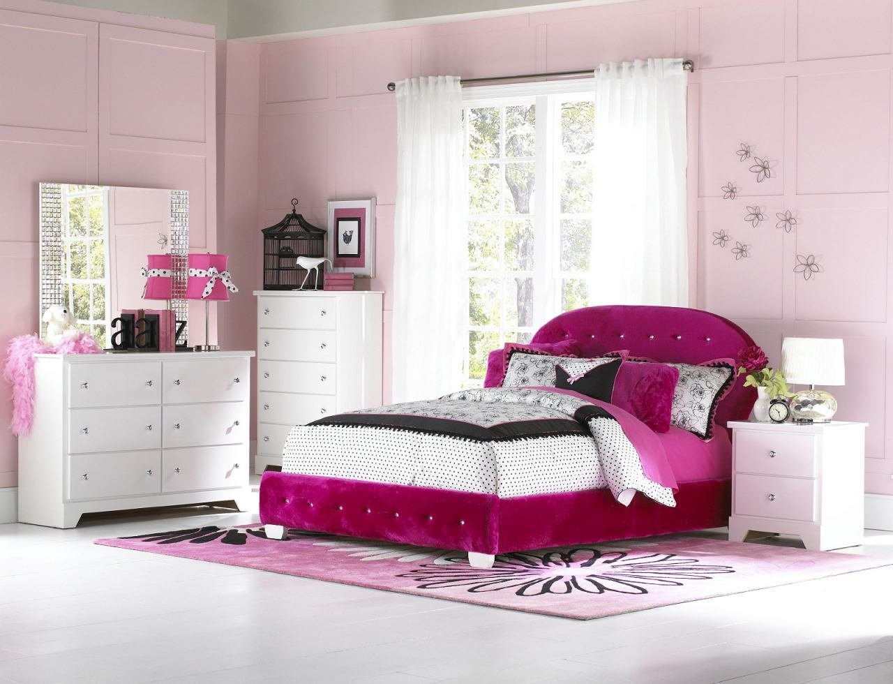Best Pink Bedroom Set Upholstered Twin Bed Pink Upholstered With Pictures