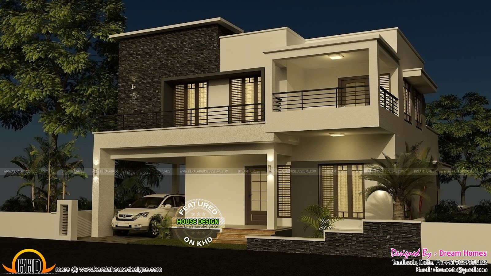Best 4 Bedroom Modern House With Plan Kerala Home Design And Floor Plans With Pictures