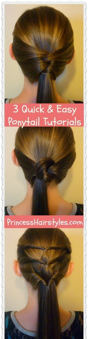 Free 3 Quick And Easy Ponytail Hairstyles Hairstyles For Wallpaper