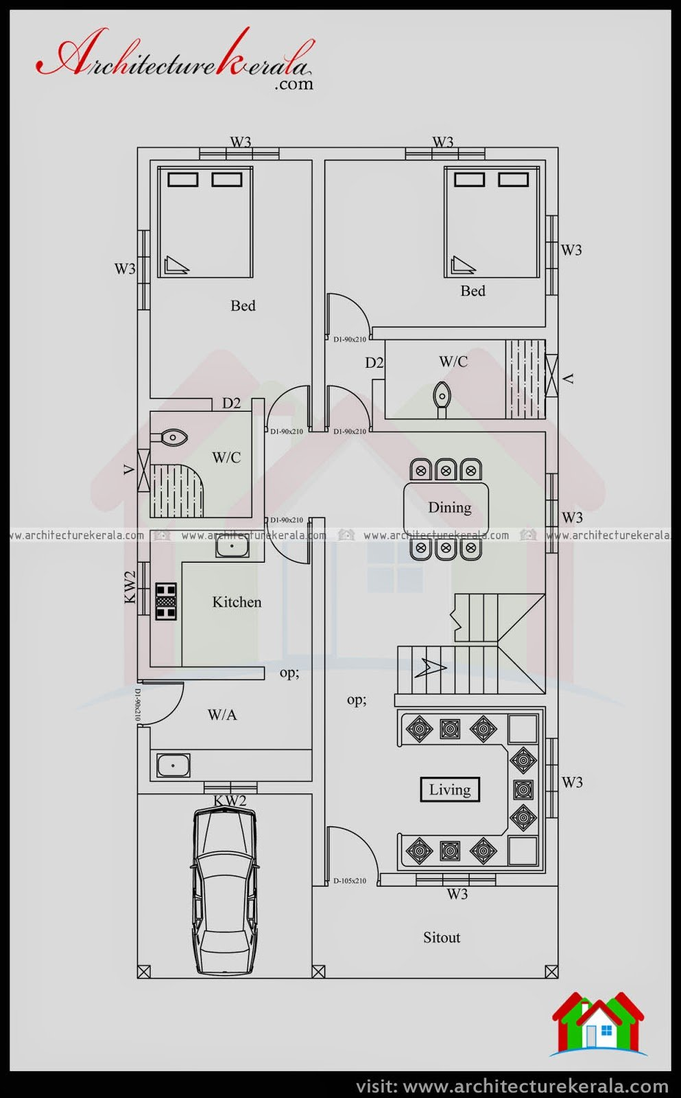 Best House Plan 4 Bedrooms Architecture Kerala With Pictures