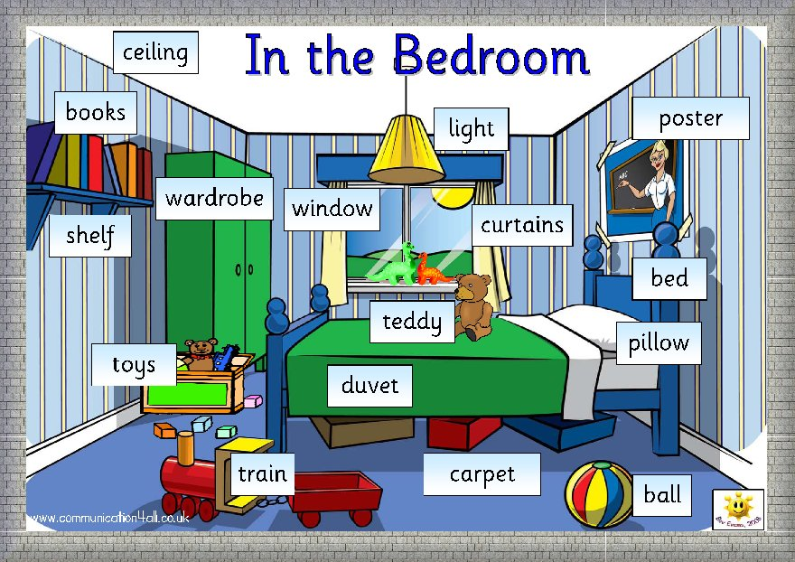 Best English Through Games My Bedroom Vocabulary With Pictures