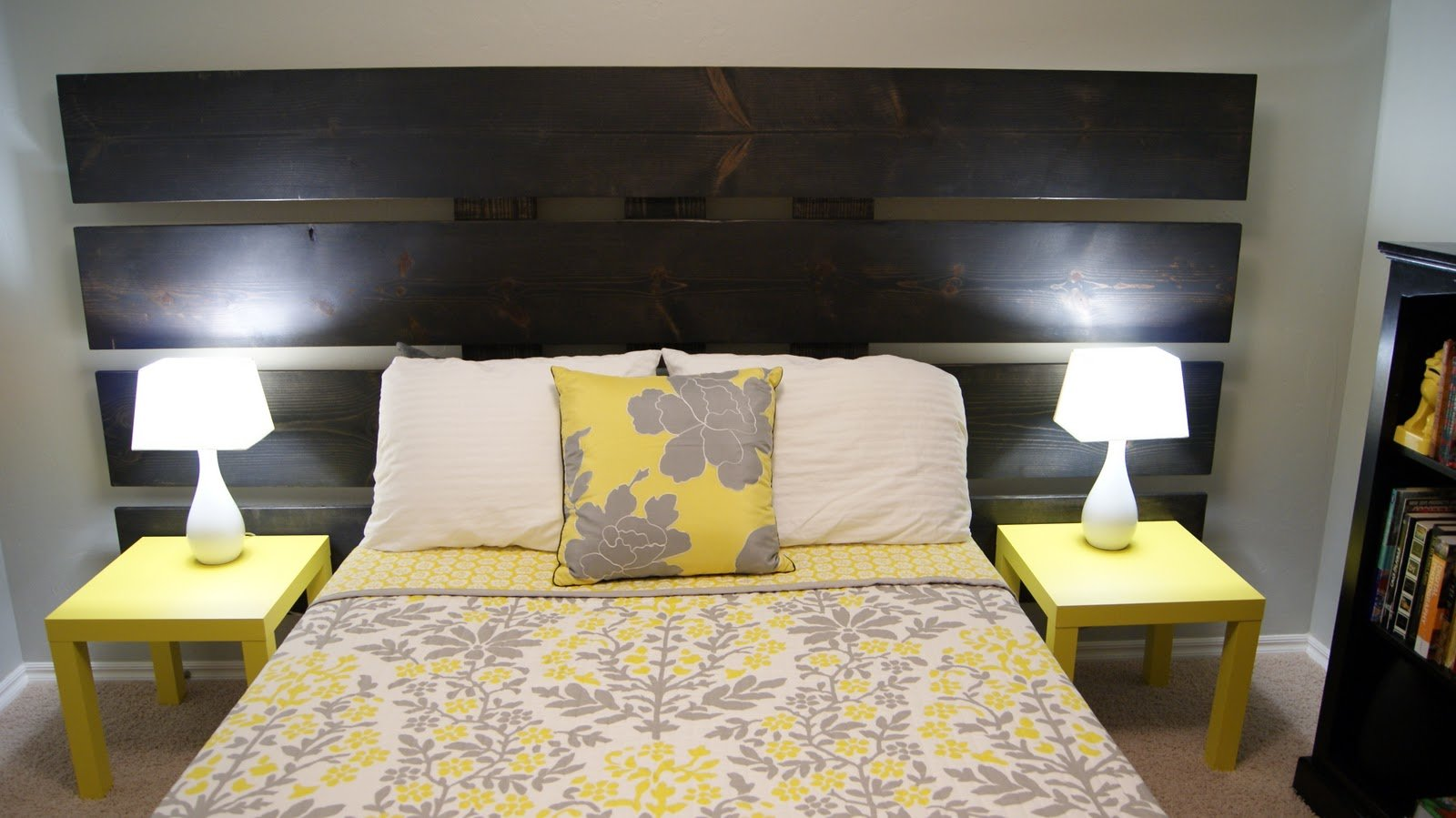 Best Living Small Yellow And Gray Bedroom Update With Pictures