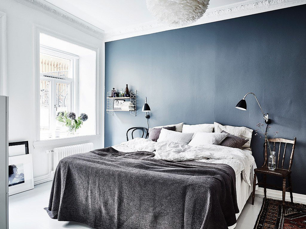 Best Blue Bedroom Wall Coco Lapine Designcoco Lapine Design With Pictures
