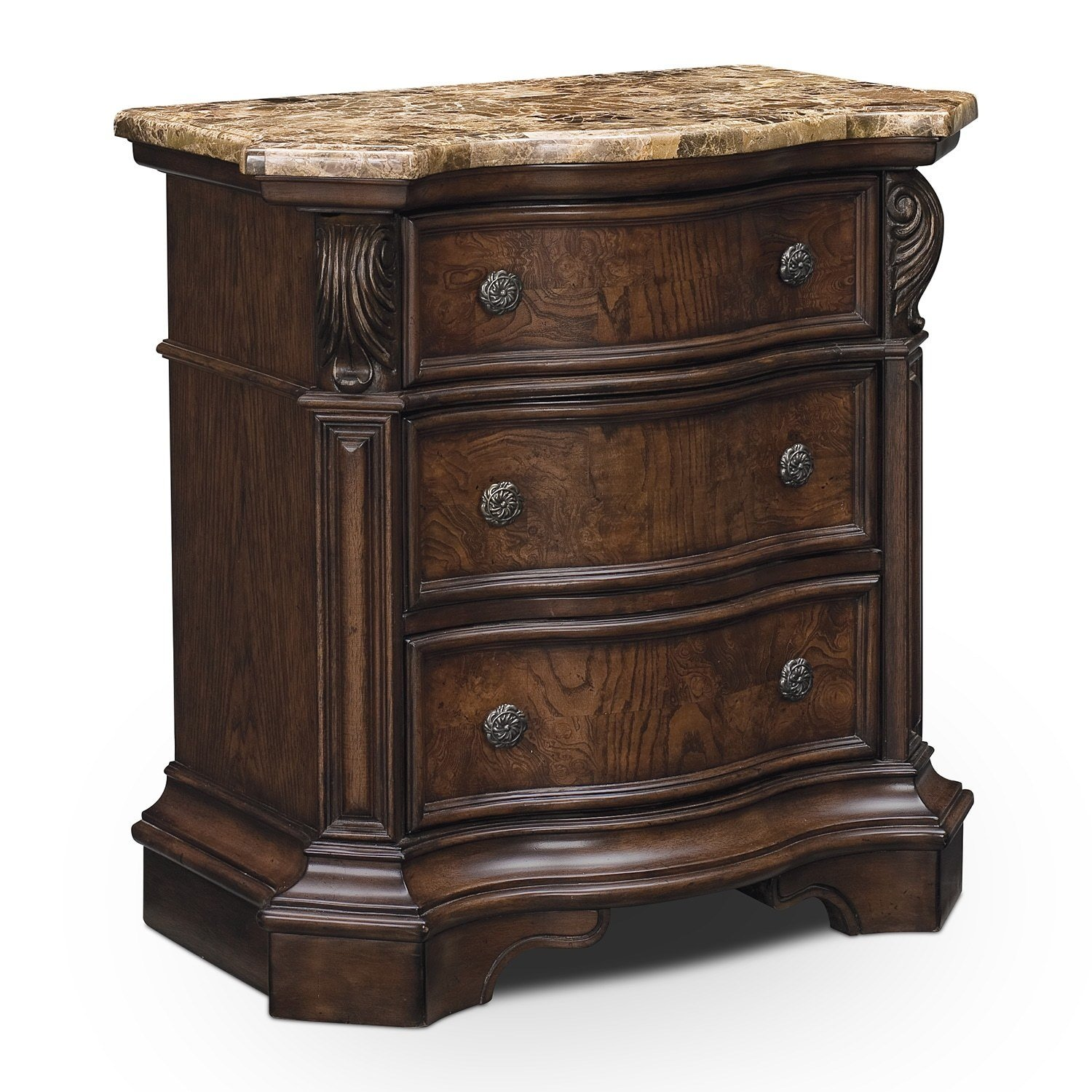Best Monticello Pecan Nightstand Value City Furniture With Pictures
