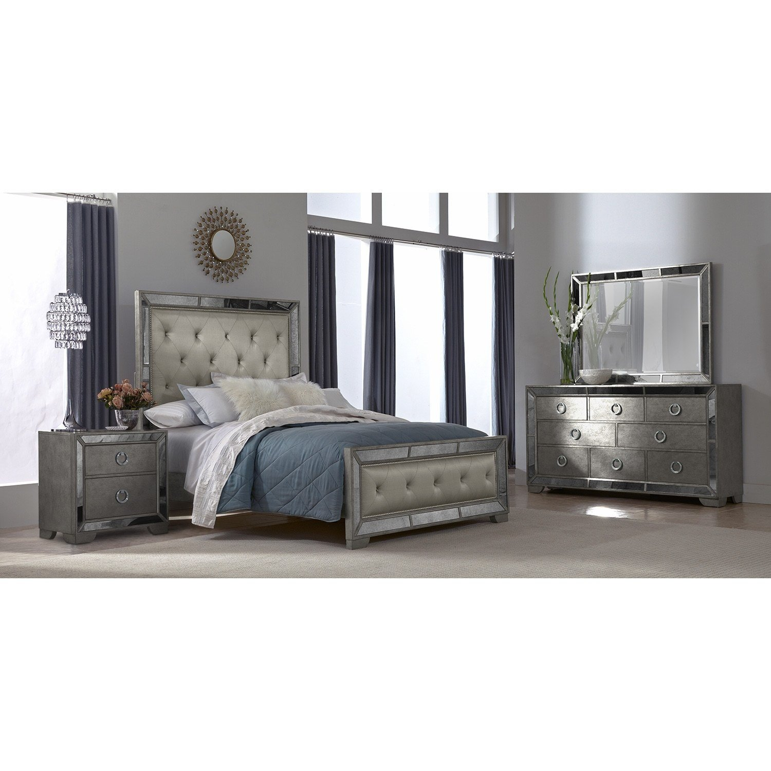 Best Angelina 6 Pc Queen Bedroom Value City Furniture With Pictures