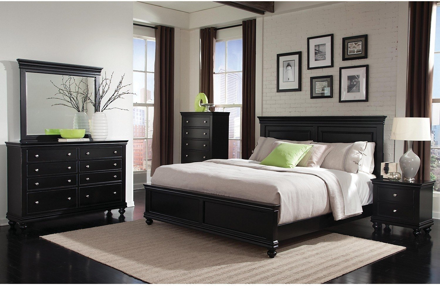 Best Bridgeport 5 Piece Queen Bedroom Set – Black The Brick With Pictures