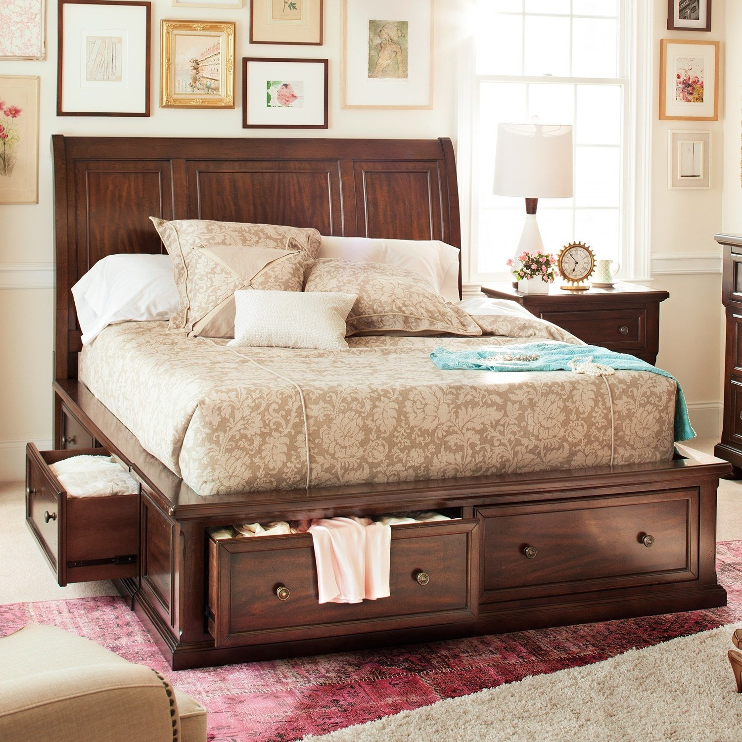 Best Hanover Queen Storage Bed Value City Furniture With Pictures