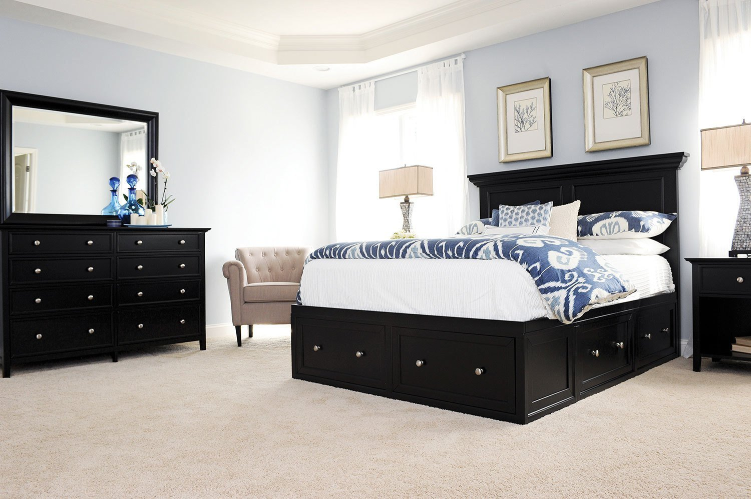 Best Ellsworth 4 Piece Queen Storage Bedroom Set Black With Pictures