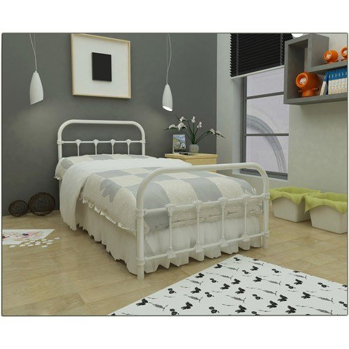 Best Antique Twin Bed White Metal Frame Bedroom Furniture With Pictures