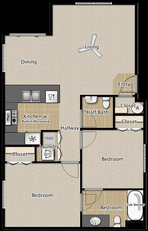 Best 2 Bedroom 1 5 Bath Apartment Floor Plans Medford Oregon With Pictures