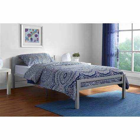 Best Twin Bedroom Furniture Sets Walmart Com Mainstays Premium Metal Bed Multiple Colors Clipgoo With Pictures