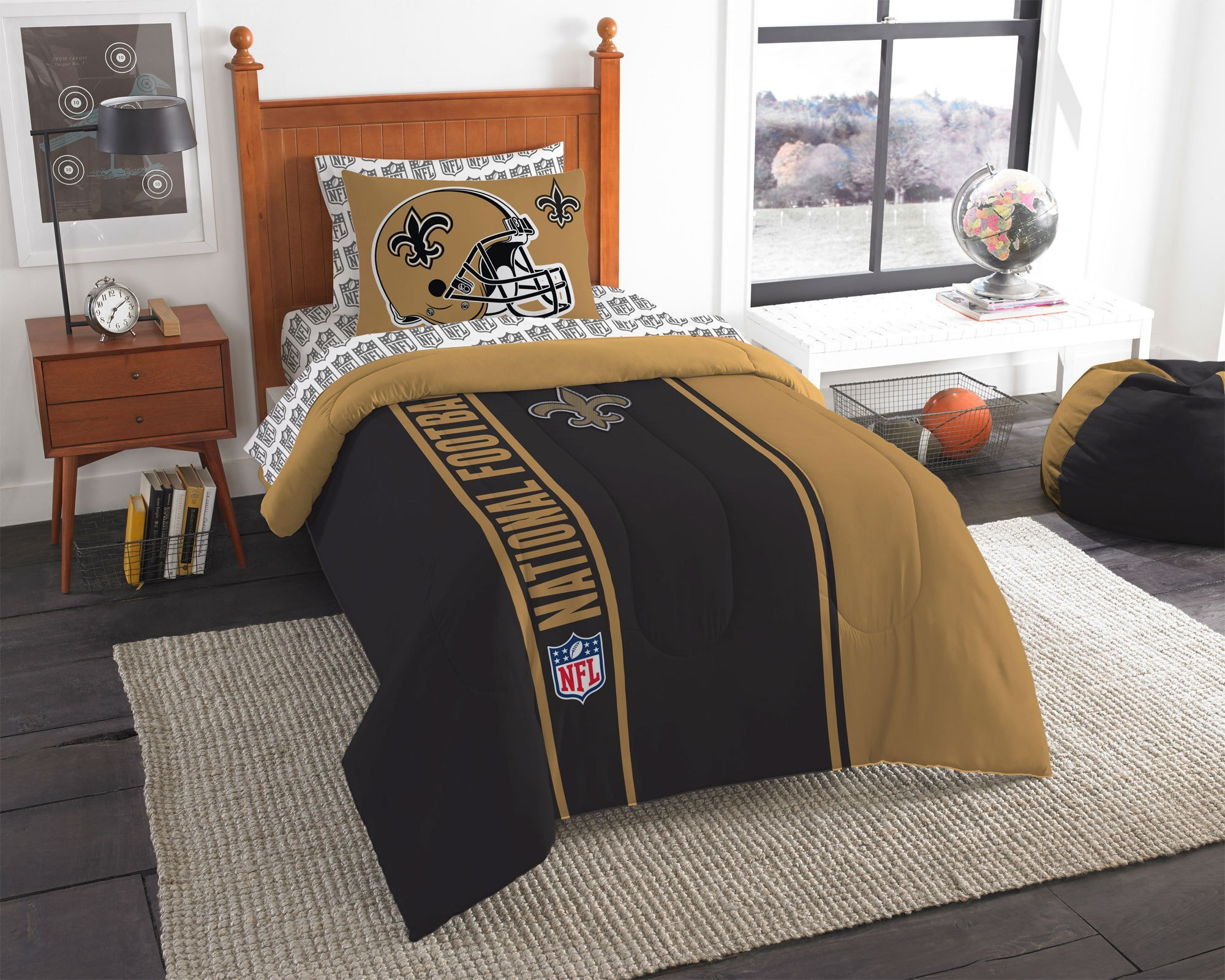 Best New Orleans Saints Bed Comforter Set Nfl Football Helmet With Pictures