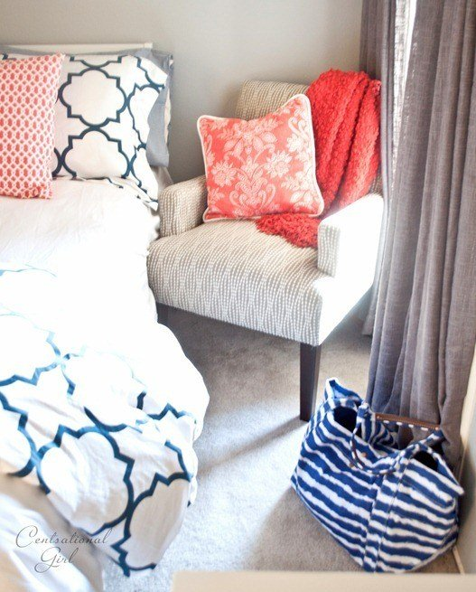 Best Navy Coral Bedroom Centsational Style With Pictures