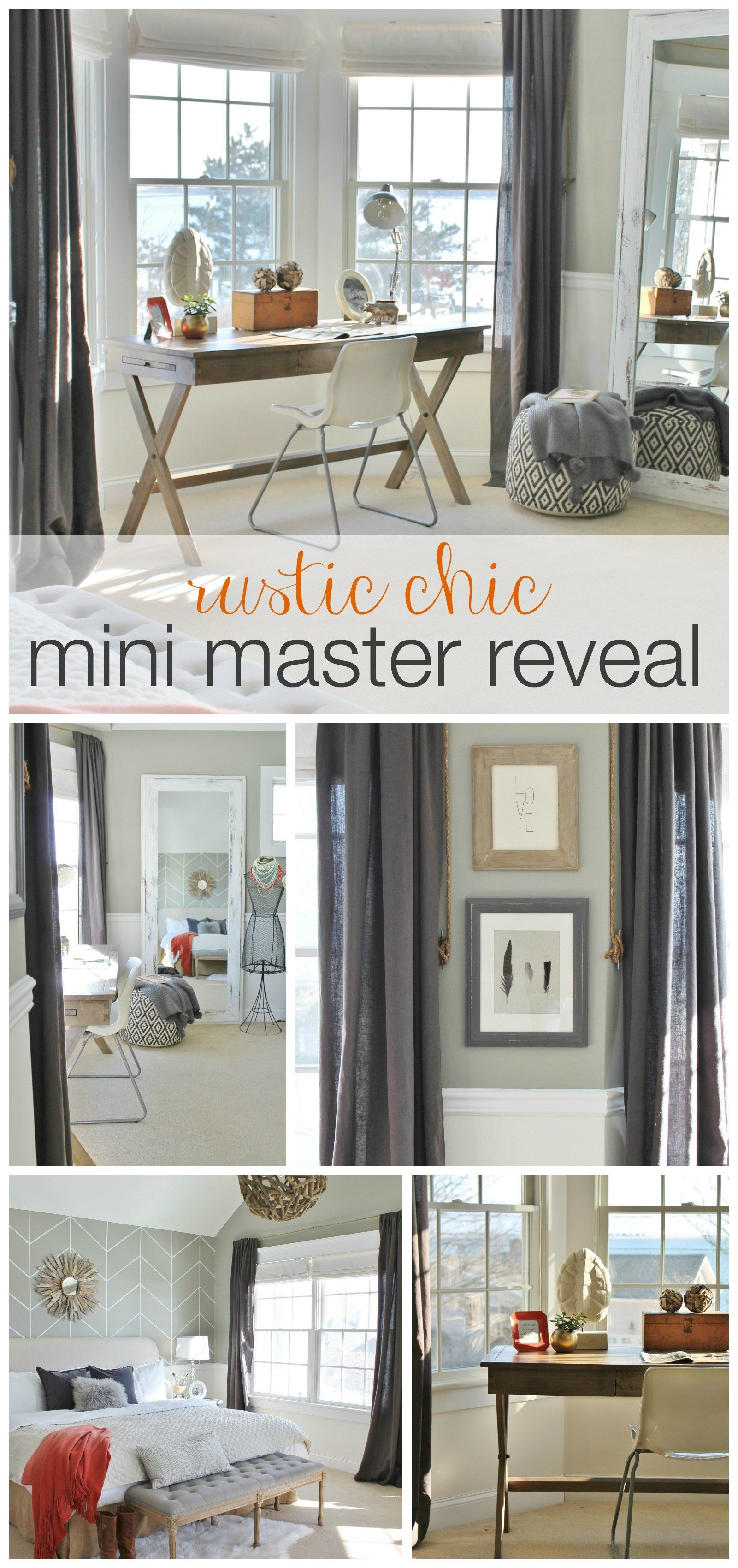 Best Rustic Chic Mini Master Reveal My Desk With Pictures