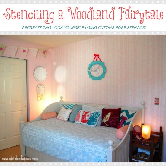 Best Stenciling A Woodland Fairytale With Pictures