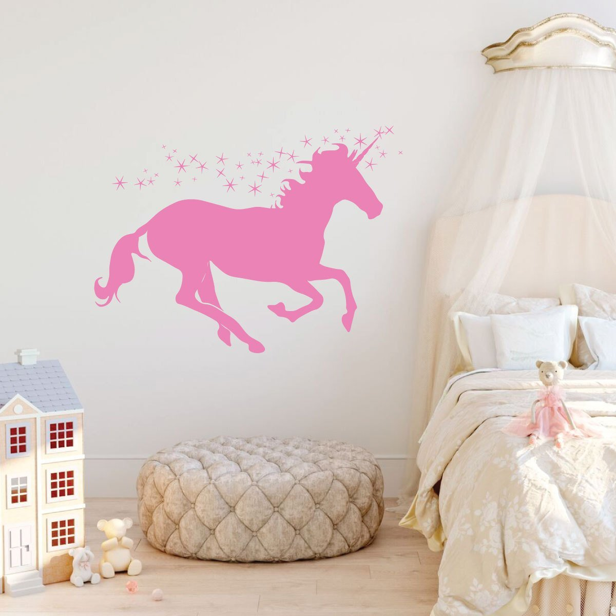 Best Unicorn Wall Decor Personalized Vinyl Decal For Girls With Pictures
