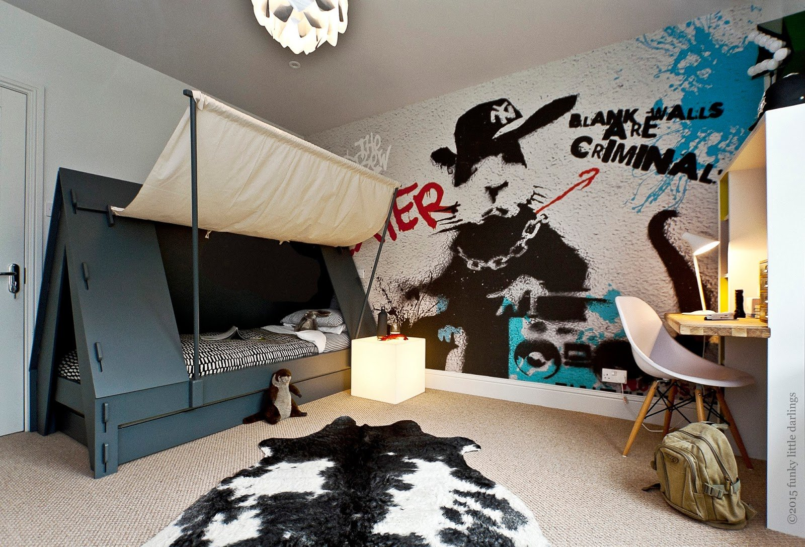 Best Funky Little Darlings Blog Tent Bed And Graffiti With Pictures