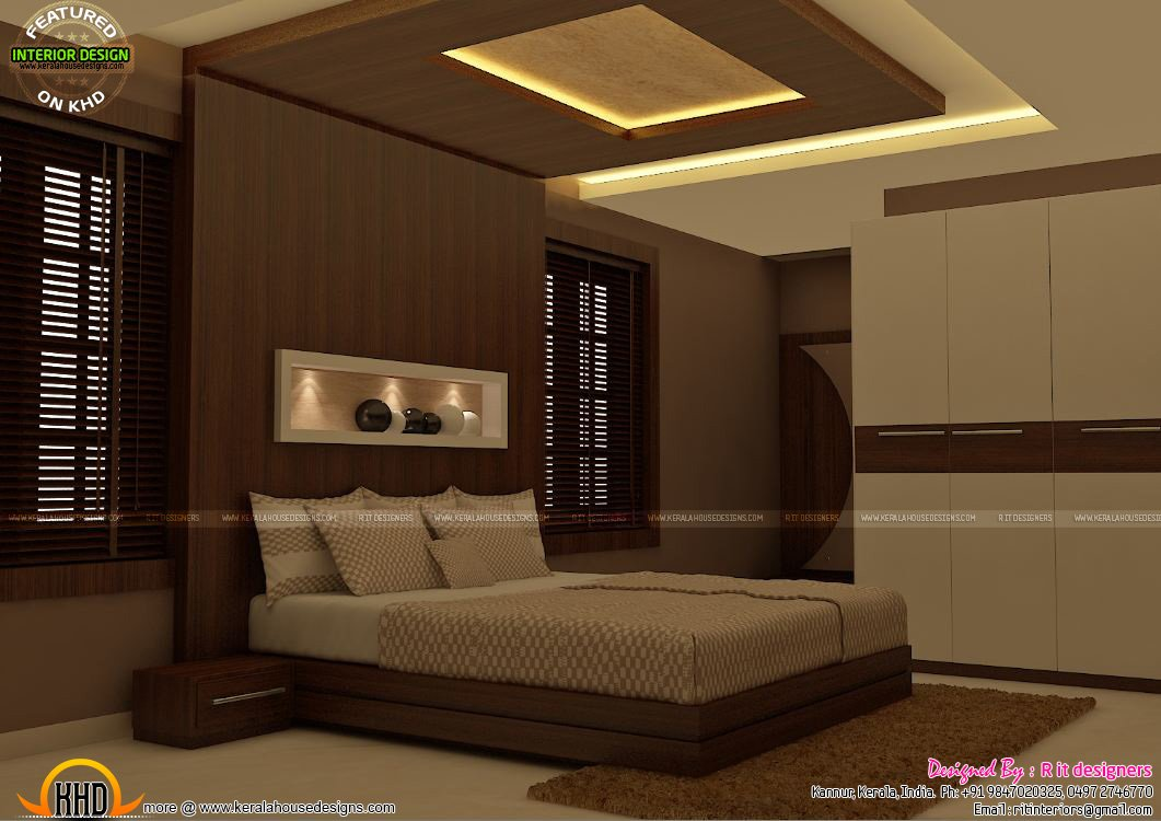 Best Master Bedrooms Interior Decor Kerala Home Design And With Pictures