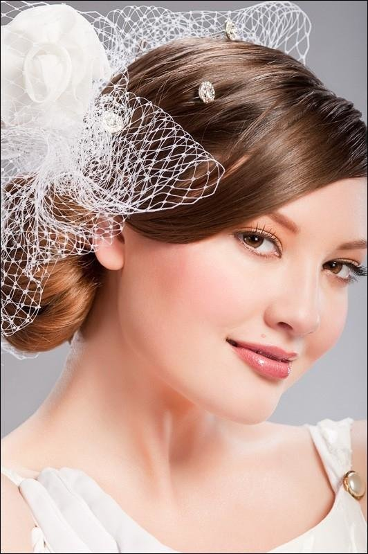 Free Pinkbizarre Bridal Hairstyles With Veil Wallpaper