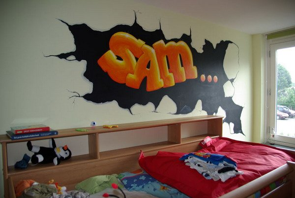 Best Graffiti Bedroom Decoration On The Wall With Pictures