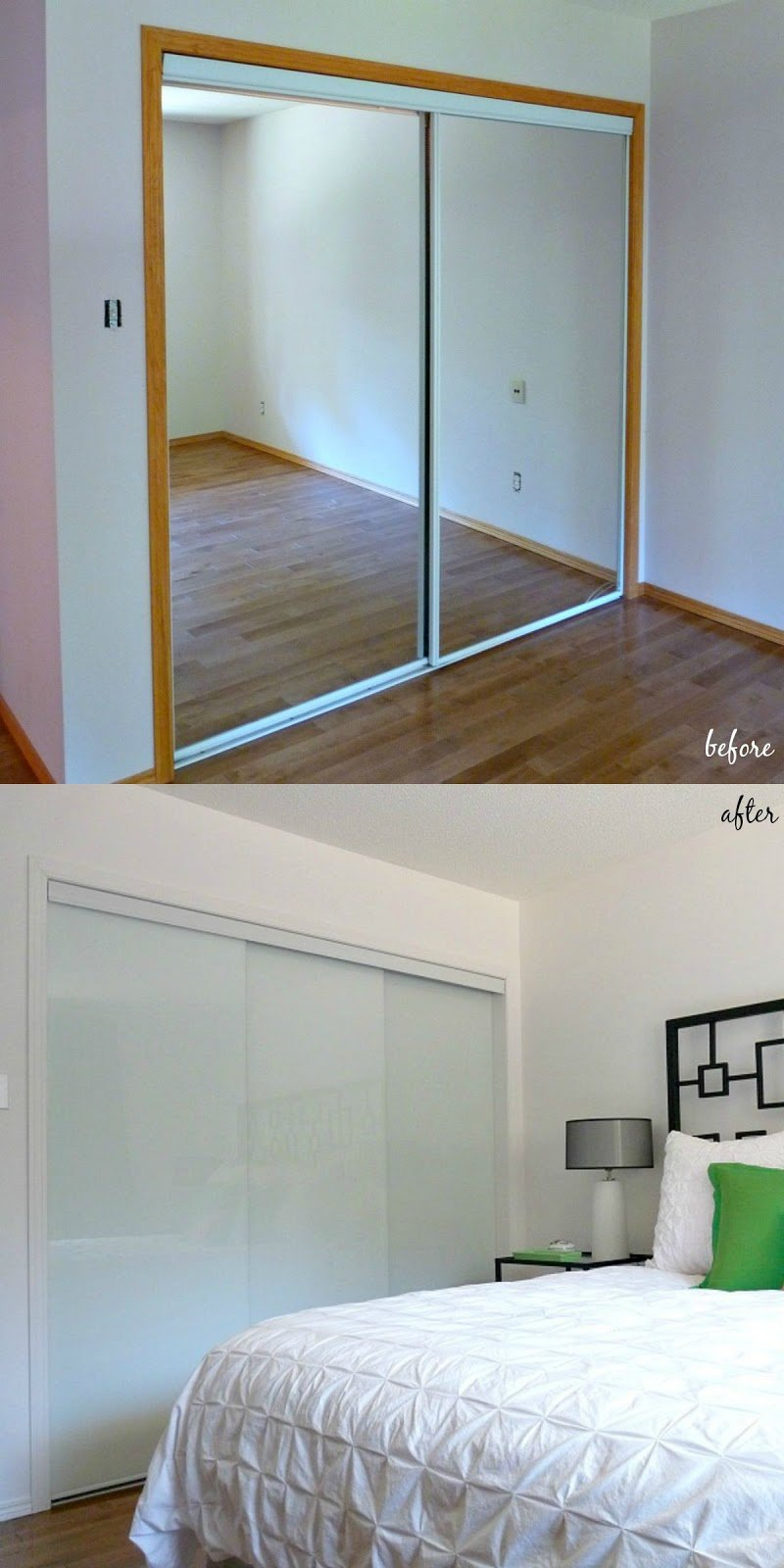 Best New White Glass Sliding Closet Doors In The Bedroom Dans Le Lakehouse With Pictures Original 1024 x 768