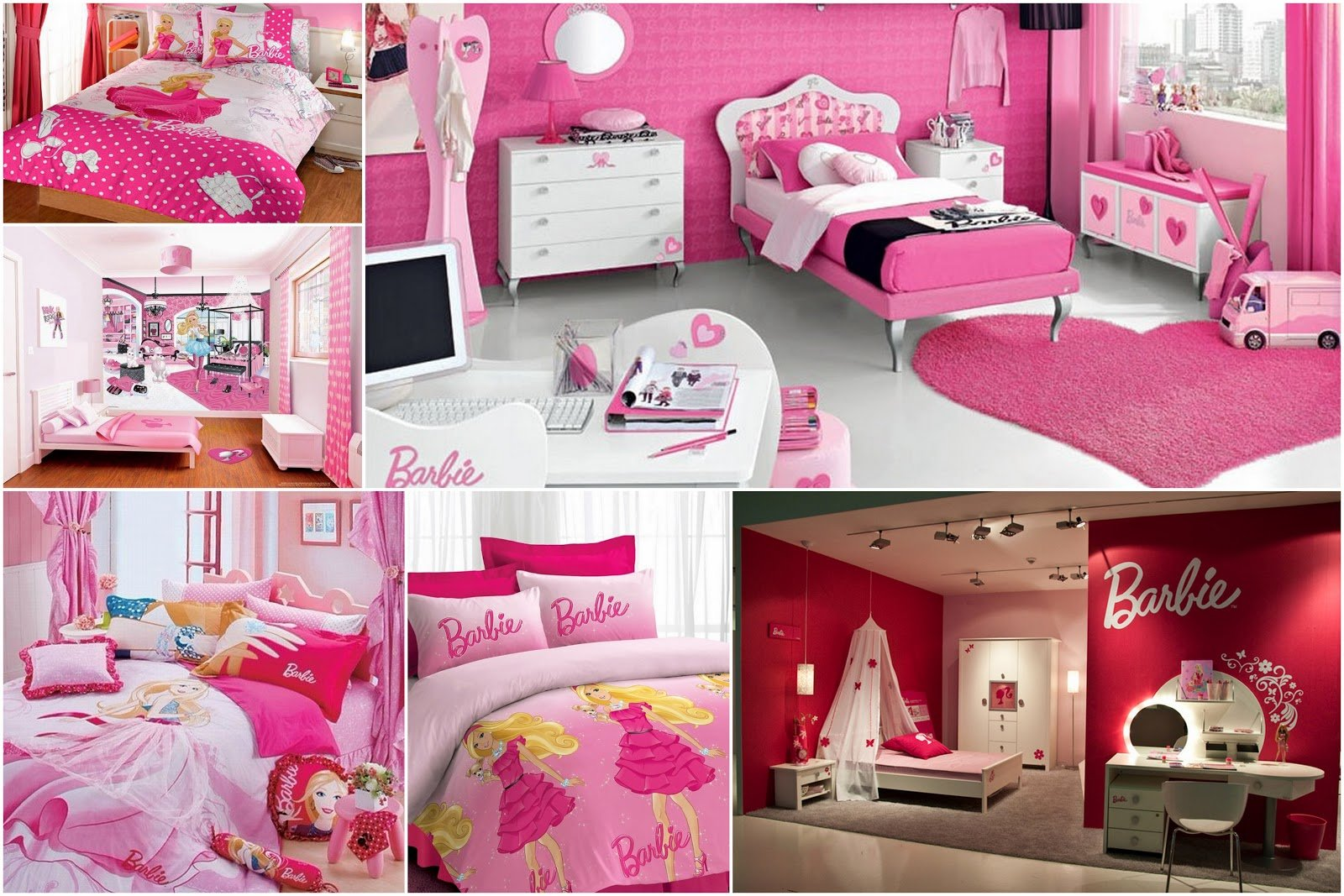 Best Girls Barbie Bedrooms Pink Colored Interior Design With Pictures