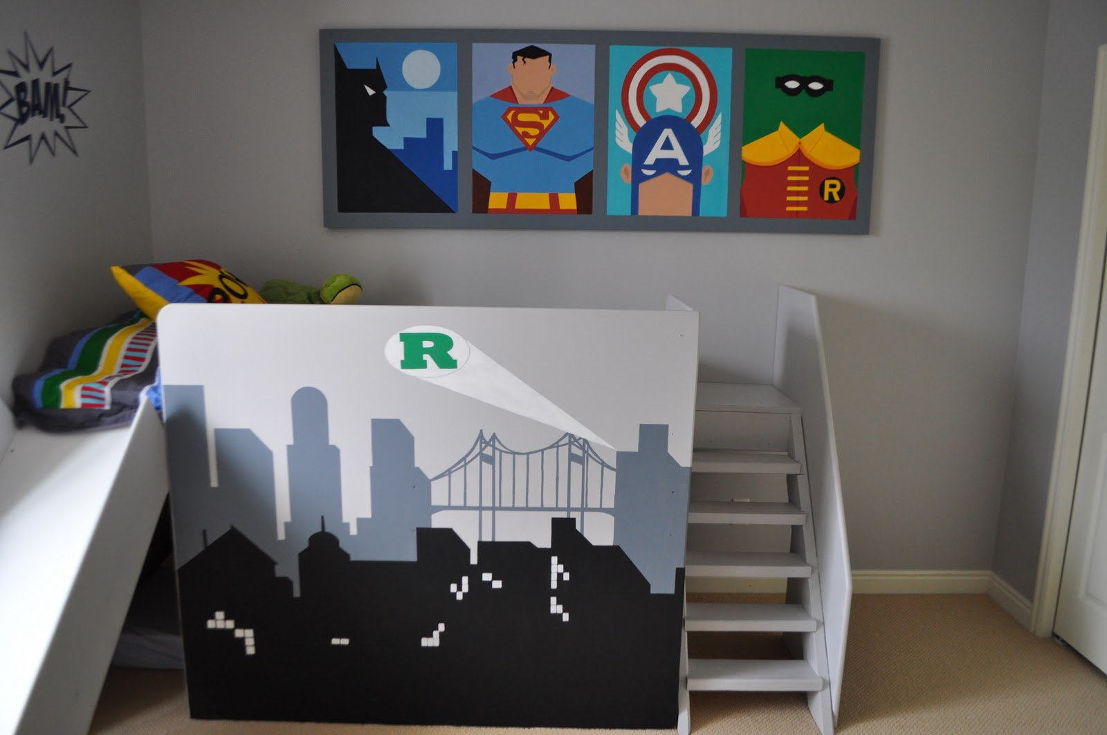 Best Remodelaholic Amazing Superhero Boys Room With Pictures