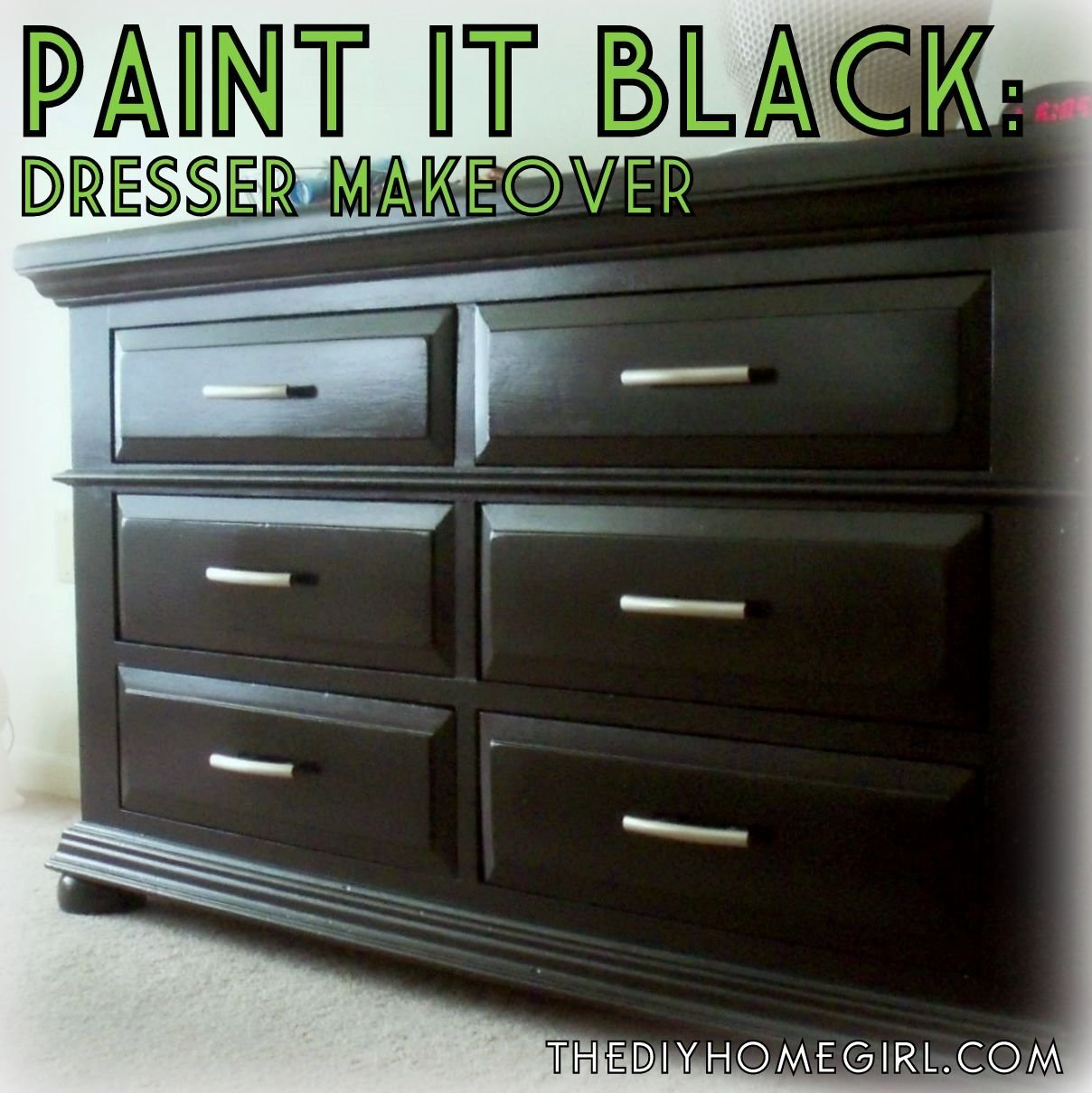 Best Paint It Black Furniture Repainting Stage 2 – The Diy With Pictures