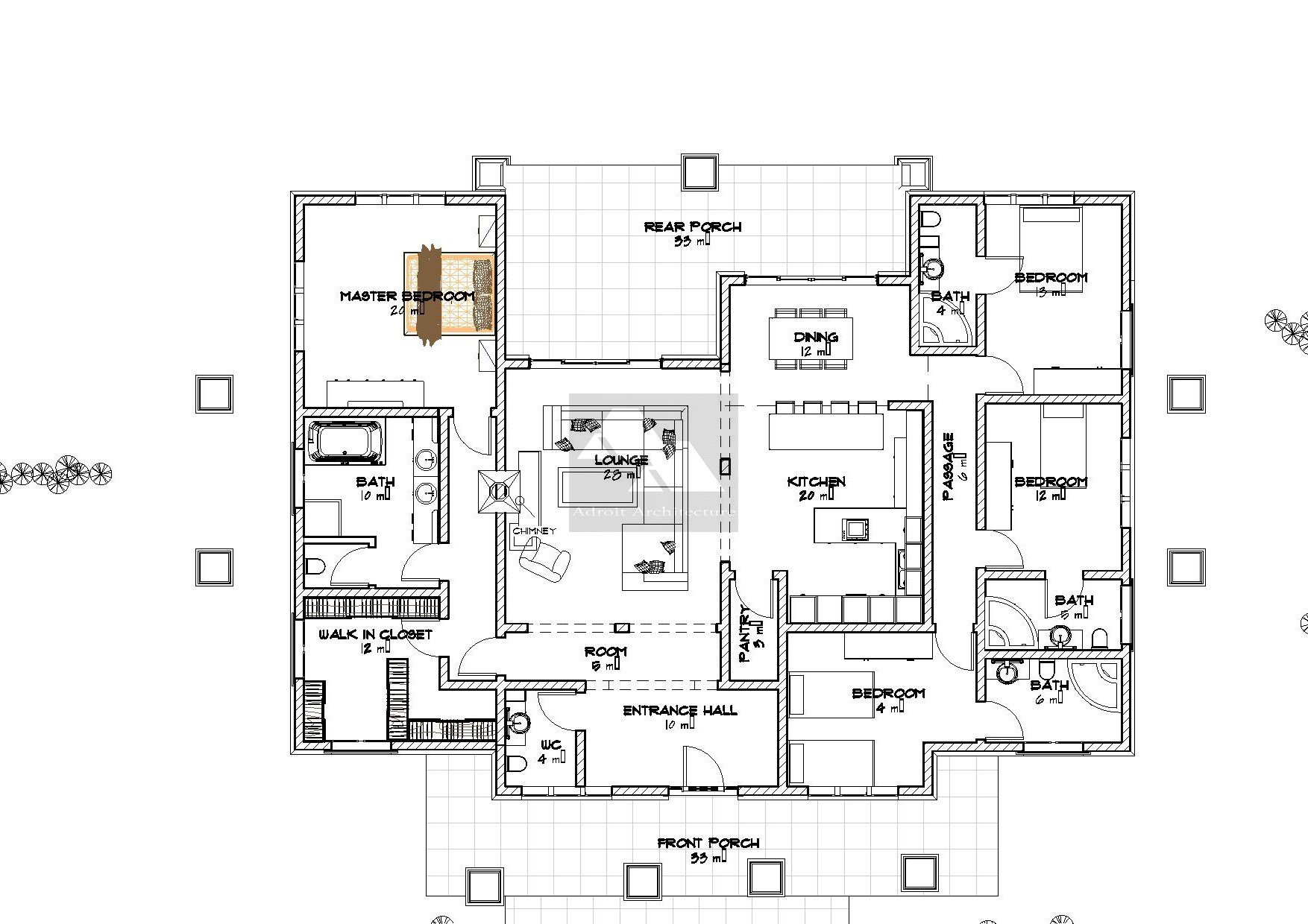 Best Arch Porch Bungalow House Plan David Chola Architect With Pictures
