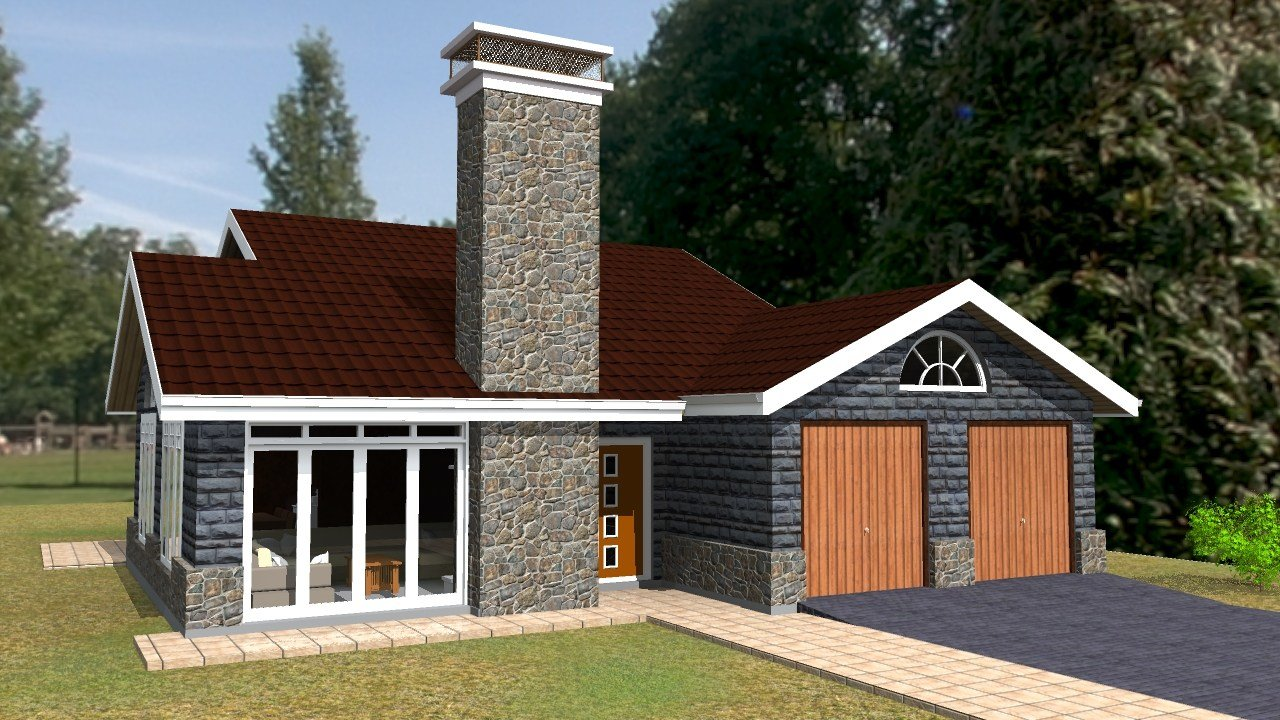 Best Elegant Three Bedroom Bungalow House Plan David Chola With Pictures