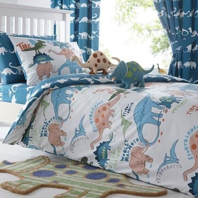 Best Bluezoo Kids Blue Dinosaur Print Duvet Cover And Pillow Case Set From Debenhams Ebay With Pictures