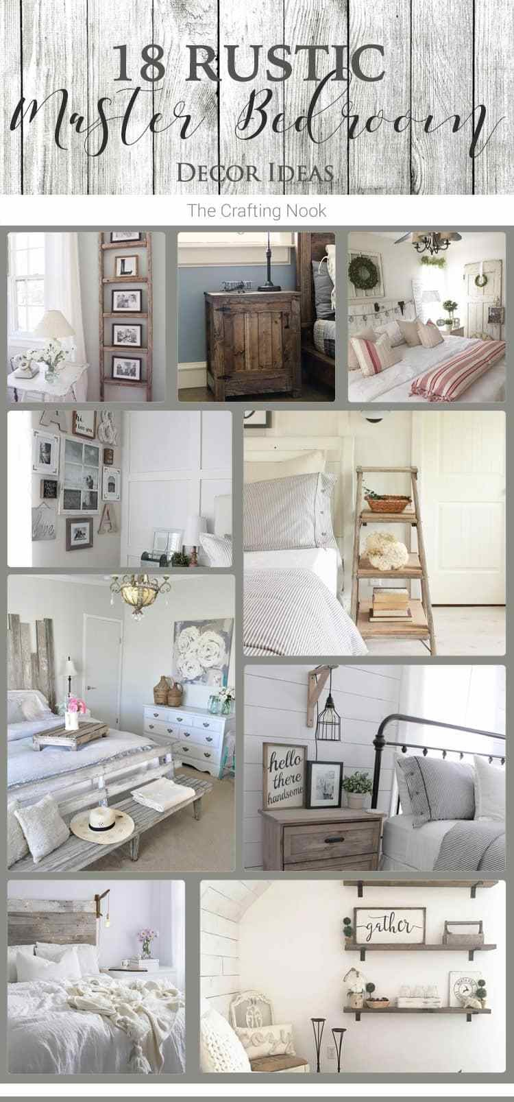 Best 18 Rustic Master Bedroom Decor Ideas That Will Invite You With Pictures
