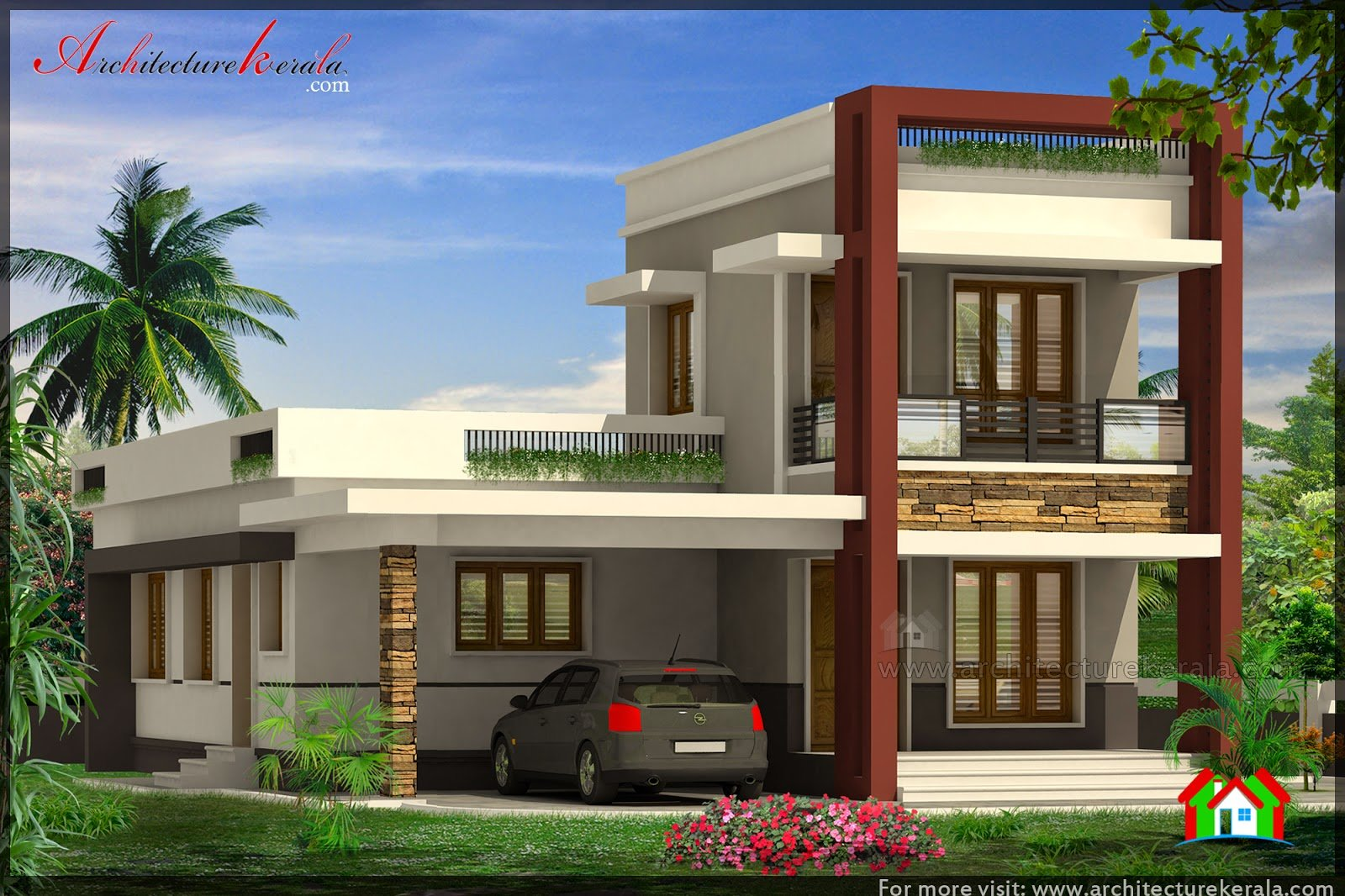 Best Three Bedroom House Plan And Beautiful Elevation With Pictures