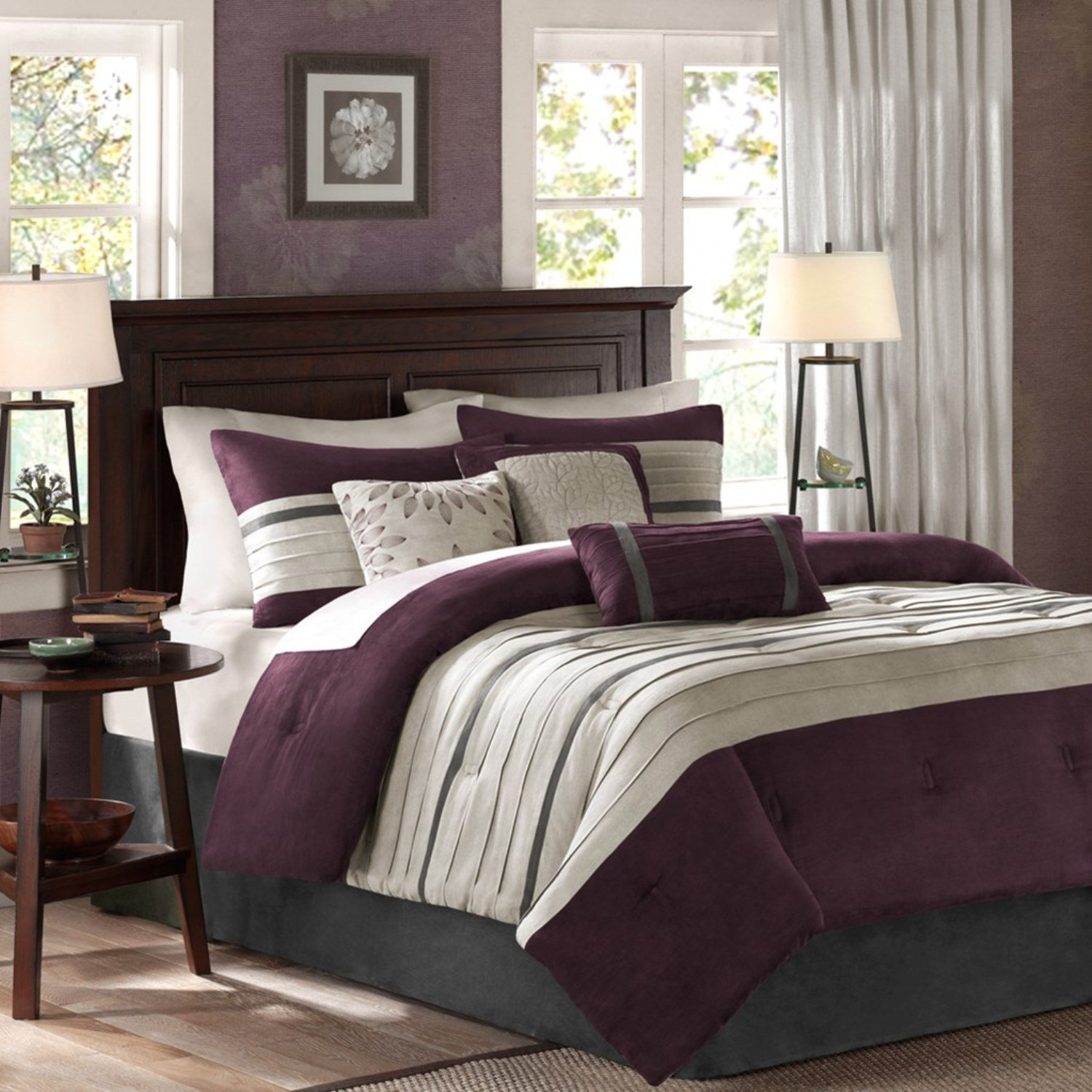 Best Grey And Purple Comforter Bedding Sets With Pictures