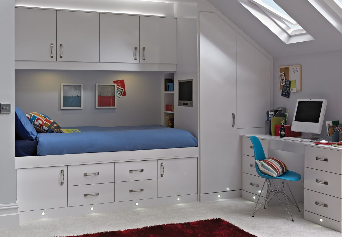 Best Casia White Space Saver Bedroom With Pictures