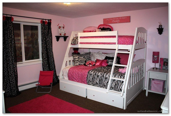Best Cute Bedroom Ideas With Bunk Bed And Pink Rugs Home Decor With Pictures