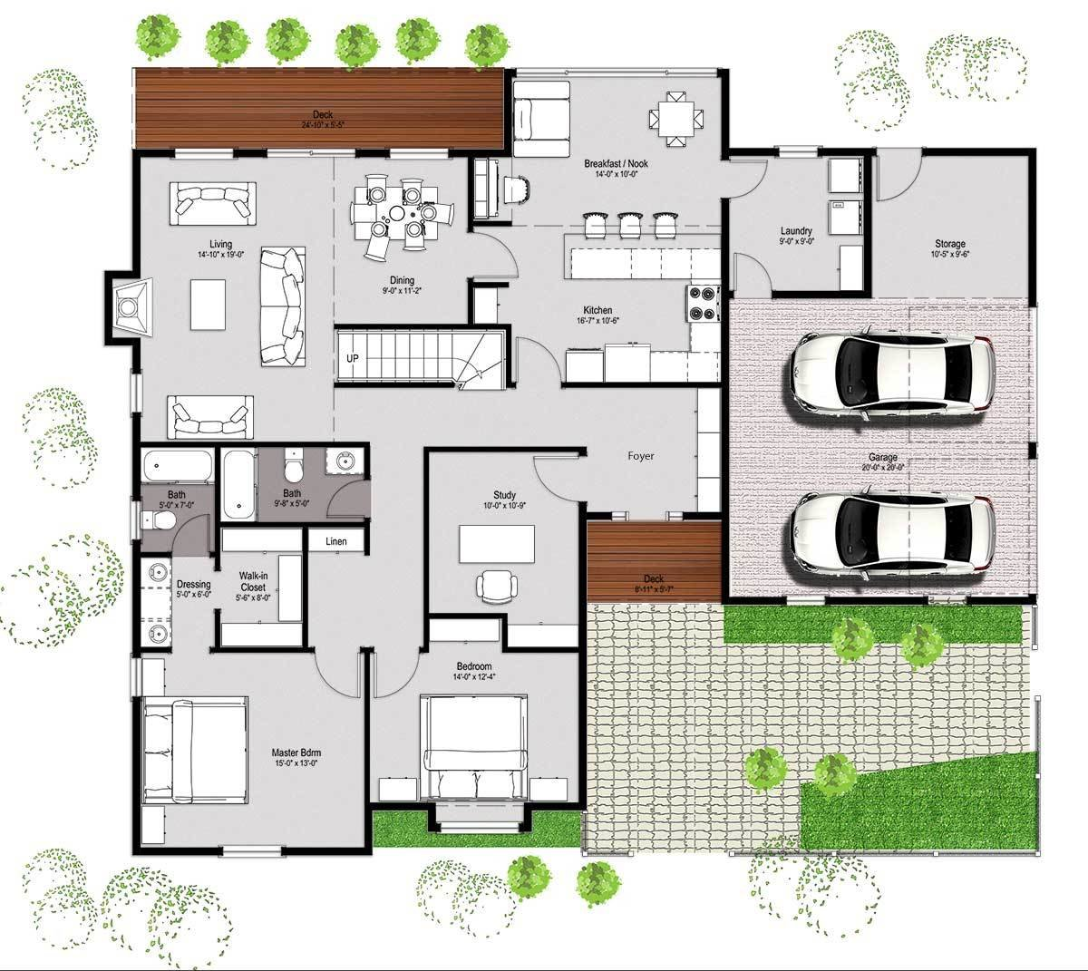 Best Houzone – Customized House Plans Floor Plans Interiors With Pictures
