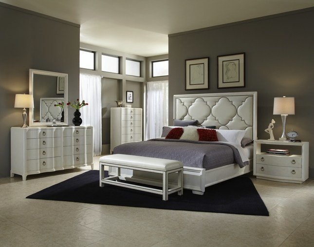 Best Cosmopolitan Parchment Hollywood Glamour Bedroom Set 208000 With Pictures