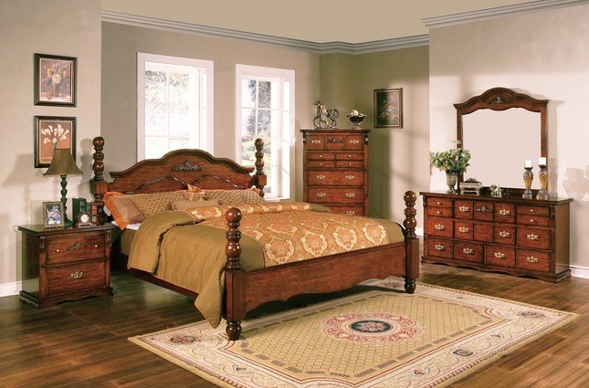 Best Coventry Solid Pine Rustic Style Bedroom Furniture Set With Pictures