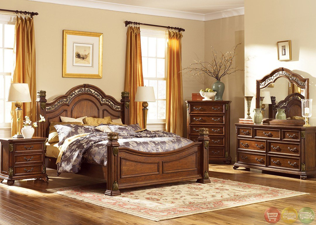 Best Messina Estates Traditional European Style Poster Bedroom Set With Pictures
